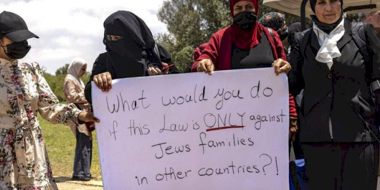 The Israel has blocks law that keeps out Palestinian spouses.