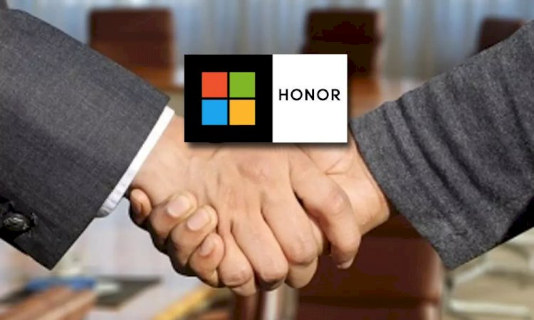 The Microsoft and Honor sign partnership to develop new AI, devices.